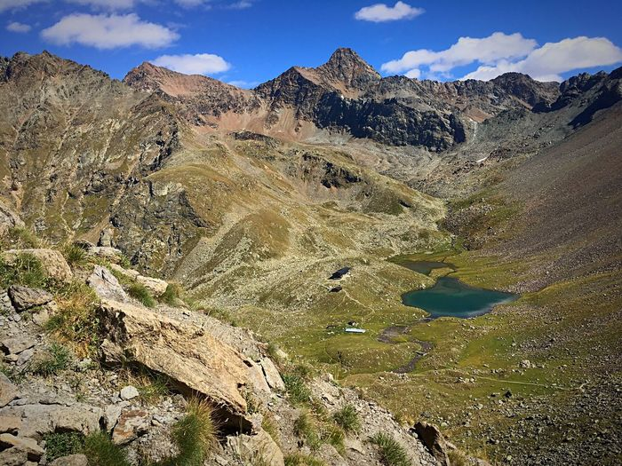 Mountain Tranquil Scene Mountain Range Tranquility Nature Scenics Beauty In Nature Landscape Non-urban Scene Sky Remote Outdoors Day Cloud - Sky Physical Geography No People Trekking Lakes And Mountains Laghi Montemilus Ilovevda Rifugio Arbolle Valle D Aosta