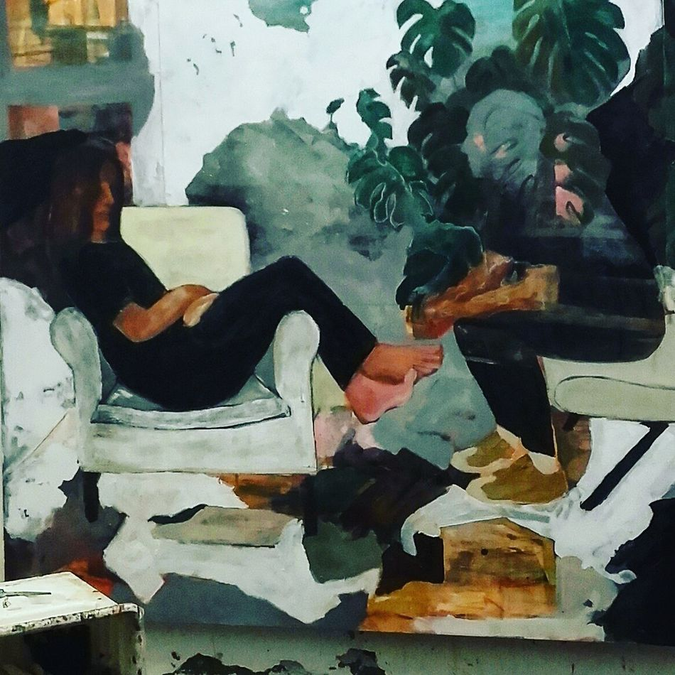 Studio d'artista Art Artistic ArtWork Indoors  Multi Colored Oil Painting Painting Painting Art Studio