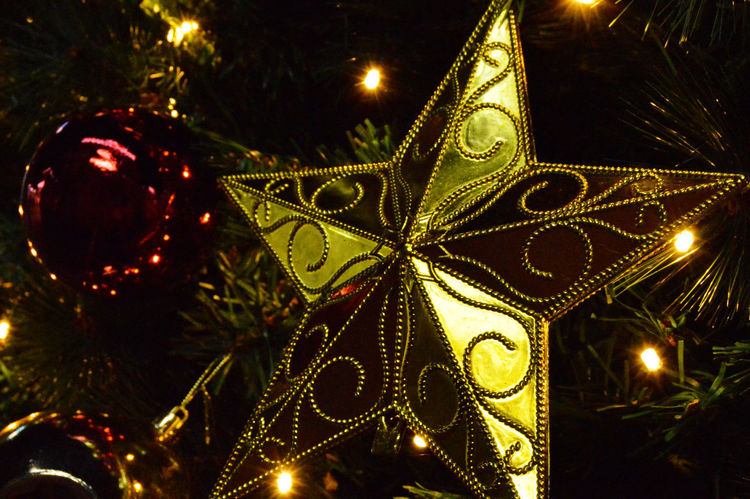 Christmas tree decorations Christmas Eve Christmas Trees Holidays New Years Pine Celebration Christmas Christmas Decoration Christmas Decorations Christmas Lights Christmas Ornament Christmas Tree Close-up Decoration Hanging Holiday - Event Illuminated Lighting Equipment Low Angle View Night Star Tradition