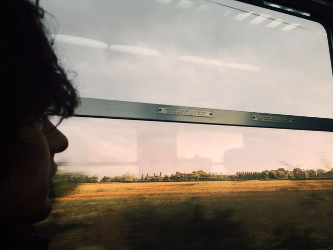 Travel Traveling Italy Countryside Veneto Window View Commuting Commute Commuter Person Train Window Train