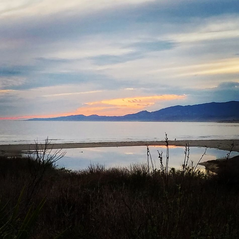 Southern California winter. Pacific Ocean Gaviotacoast Beach California Ocean View Sunset Mountain Landscape Outdoors Beauty In Nature Nature Water No People