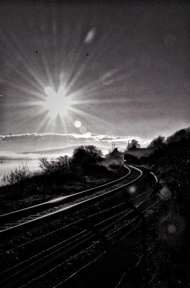 Train Tracks Sunshine Blackandwhite Photography Black And White Nikon D7000