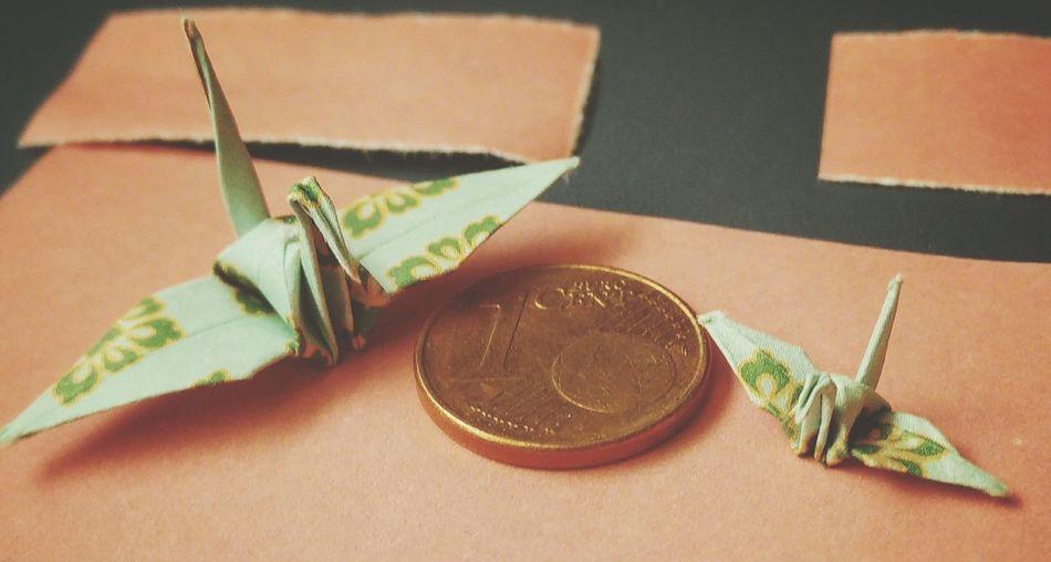 Liebling Ich Habe Die Kraniche Geschrumpft. Origami Kranich Crane