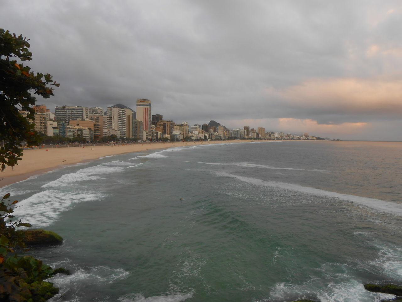 Traveling Home For The Holidays Leblon Beach Ipanema Beach Rio De Janeiro Beach Nature Cloud - Sky Sky Travel Destinations Day Cityscape Water Hot Water Landscape Clouds Environment