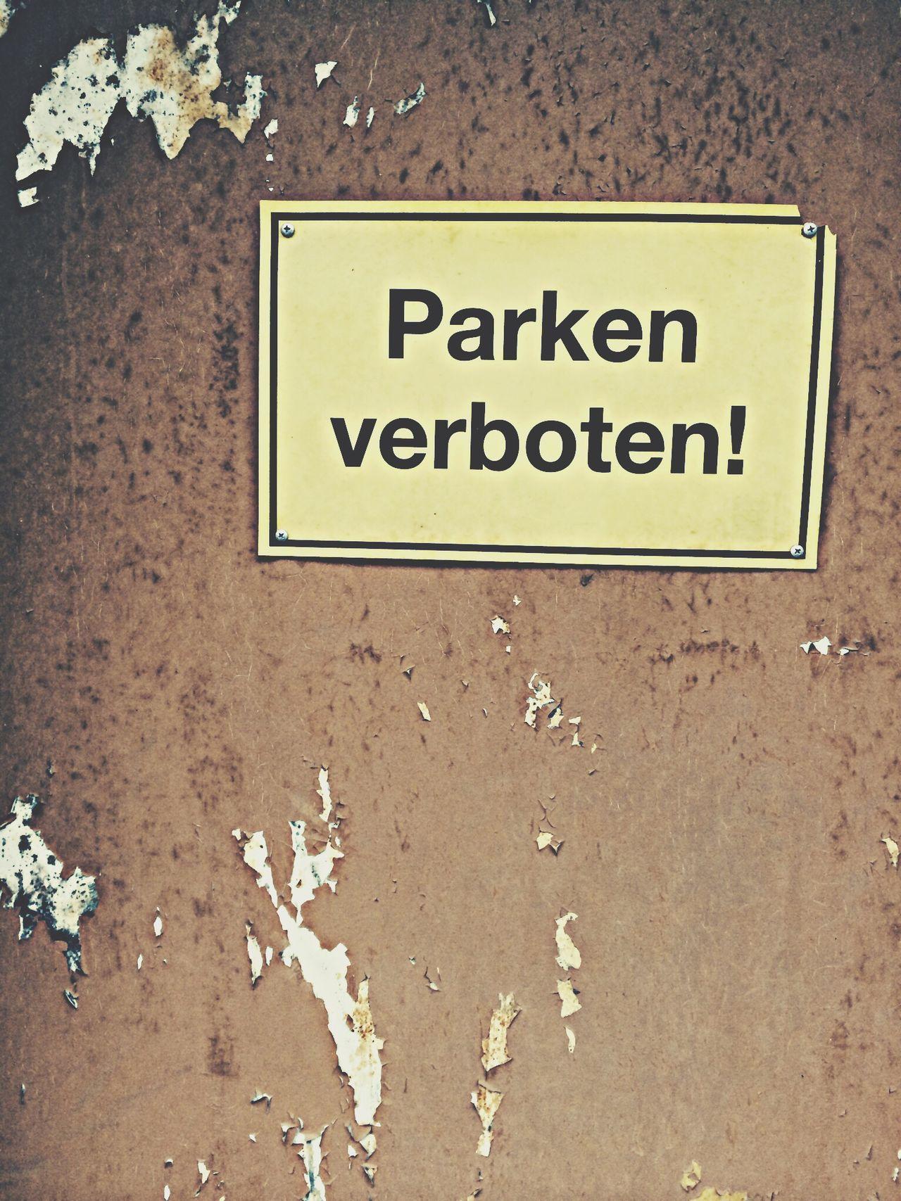 Parken verboten, 2014. Parken Verboten Stop Signs