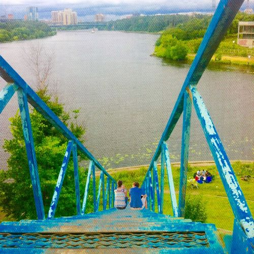 Stairway To River River Moscow Impressionism Russia Stairway