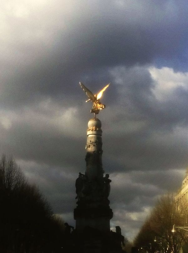 Golden Angel Stormy Sky Glory France Things I Like
