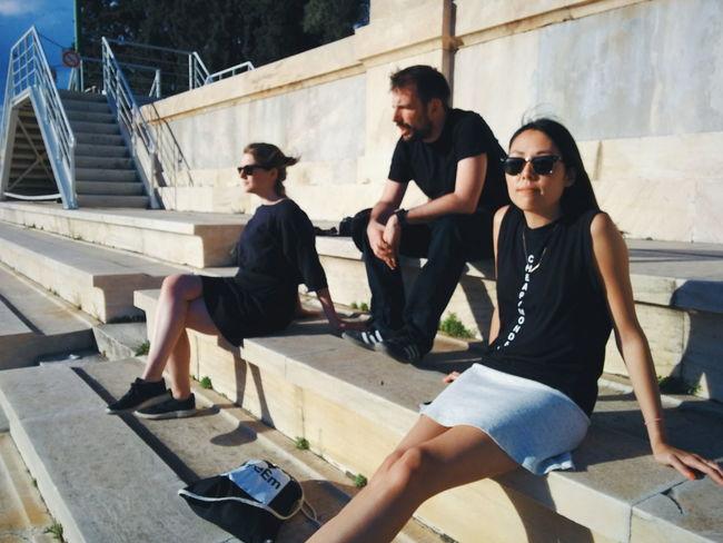 Sunny Day Olimpic Games  Stadium Panathenaicstadium Friends Traveling Relaxing