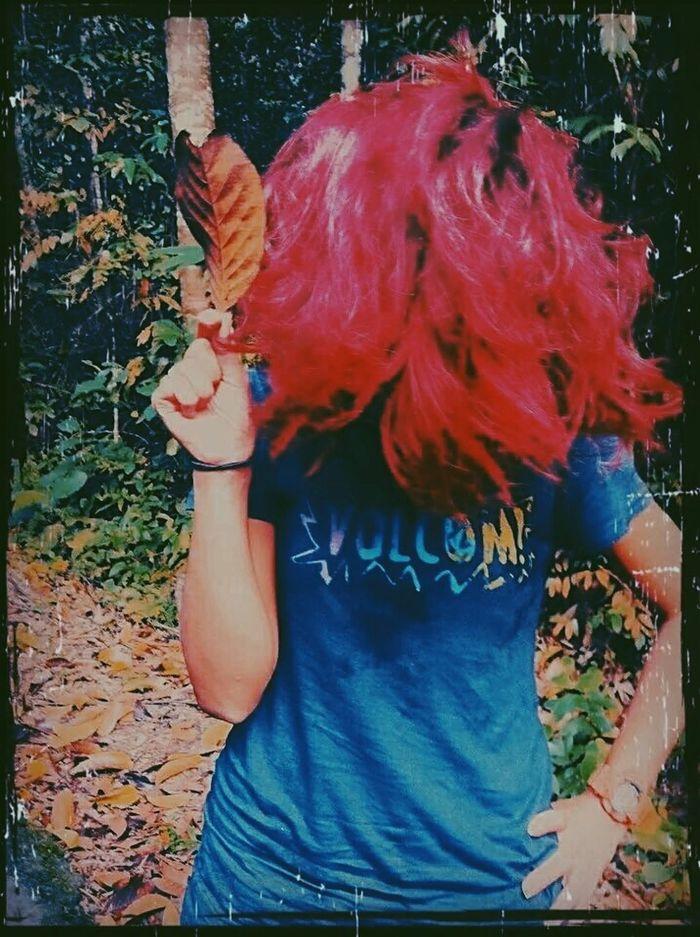 Red Hair Dried Leaf Volcom Volcom Lover Volcomstone Starla Starlette Hello World Gshock
