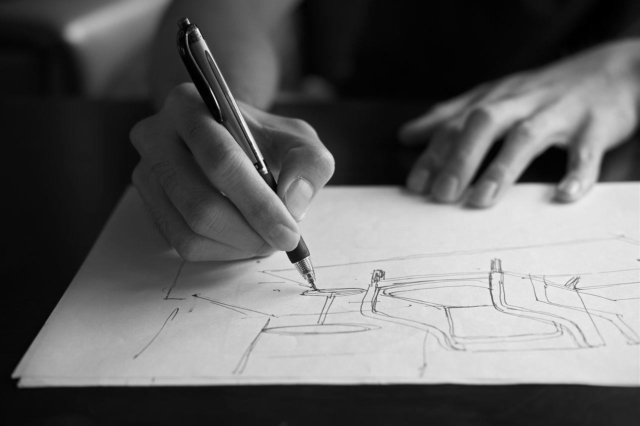 Beautiful stock photos of zeichnungen, Architect, Bangkok, Blueprint, Creativity