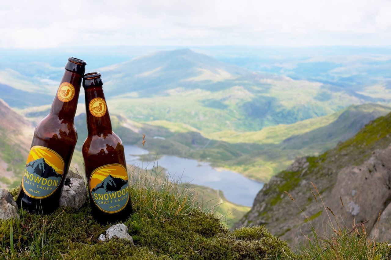 Mountain Beauty In Nature Nature Scenics Beer Beers Cloud Cloud - Sky Valley Sky Landscape Day One Person Outdoors People Friends Lake View From Above Adventure Hiking Couple EyeEm Best Shots Check This Out in Snowdonia , Wales MISSIONS: The Great Outdoors - 2017 EyeEm Awards
