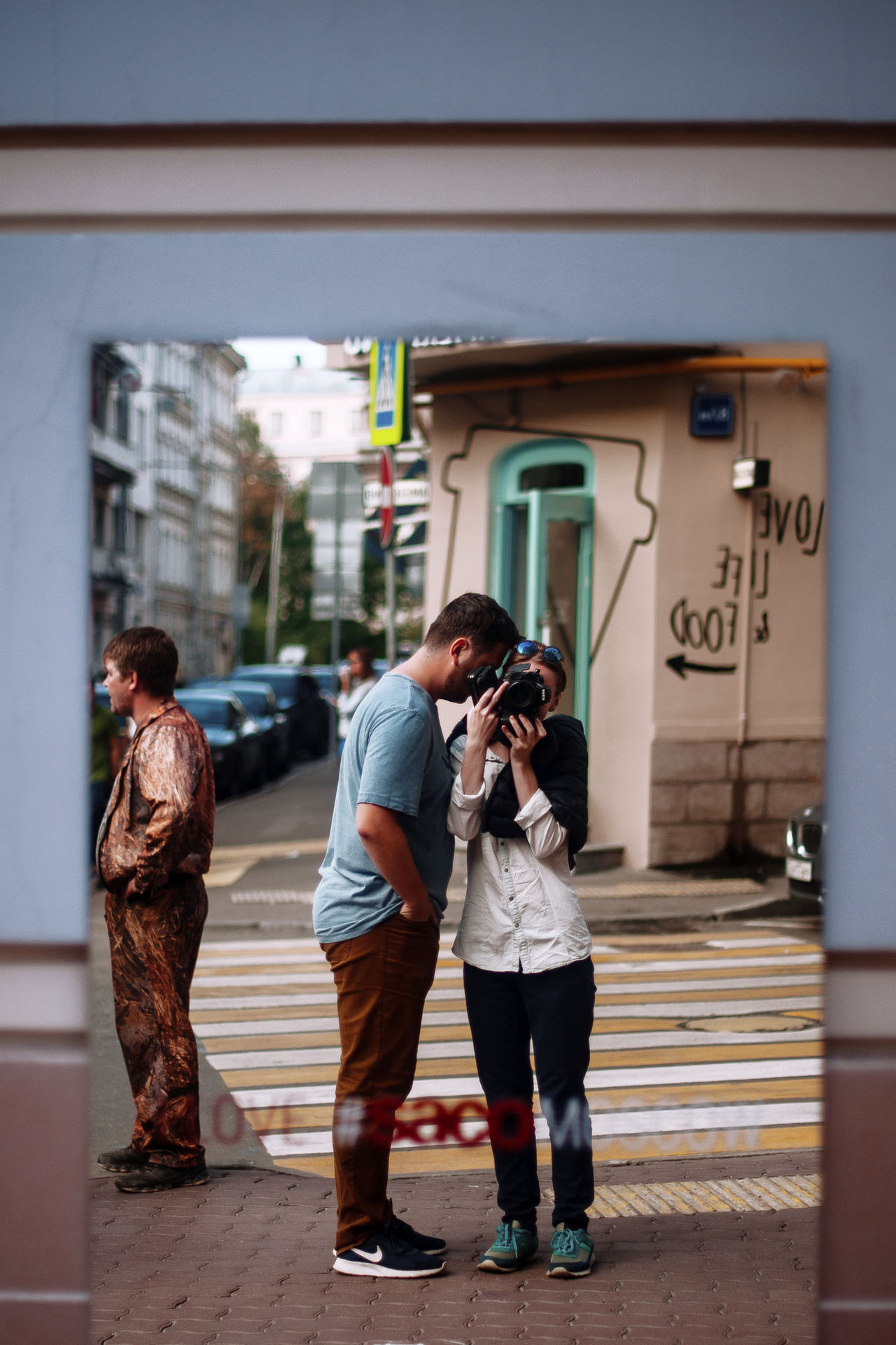 City Street City Life People Building Exterior Outdoors Architecture Day Memories Men Full Length Women Road