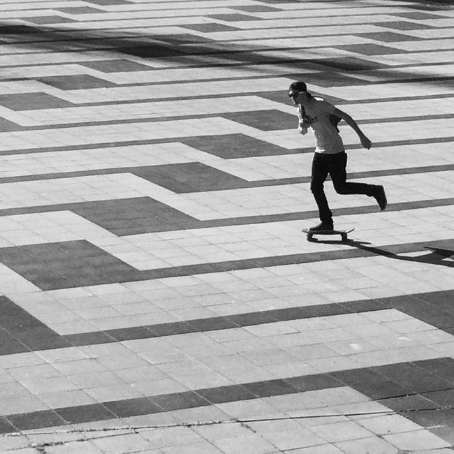 Fast life Ride Skateboarding Blackandwhite Chilling Life Grenoble Architecture First Eyeem Photo