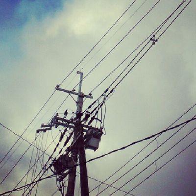 ブーメランって・・・これかなぁ? #electricline #sky #cloud Sky Cloud Electricline