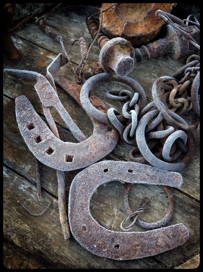 Frosted scrap metal, Catalonia, Spain. Frost Frosty Frosty Morning Frosty Mornings Horse Shoe Metal SPAIN Spain ✈️🇪🇸 Spain♥ Spaın Still Life Weather Weather Photography