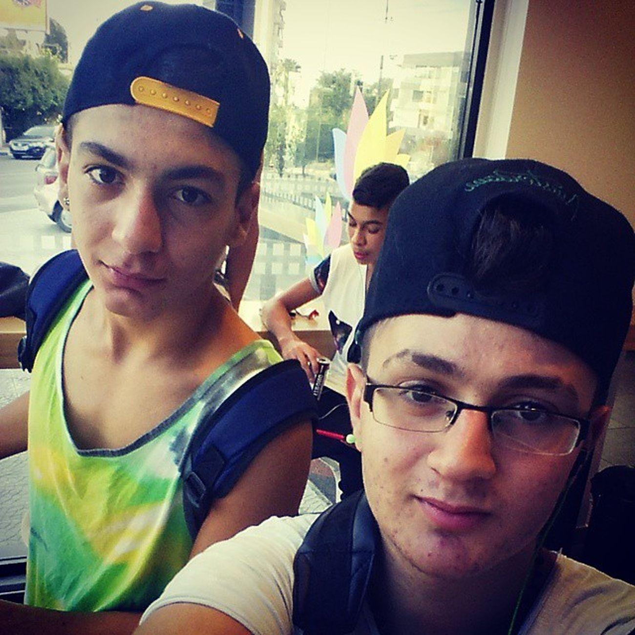 With gay boy