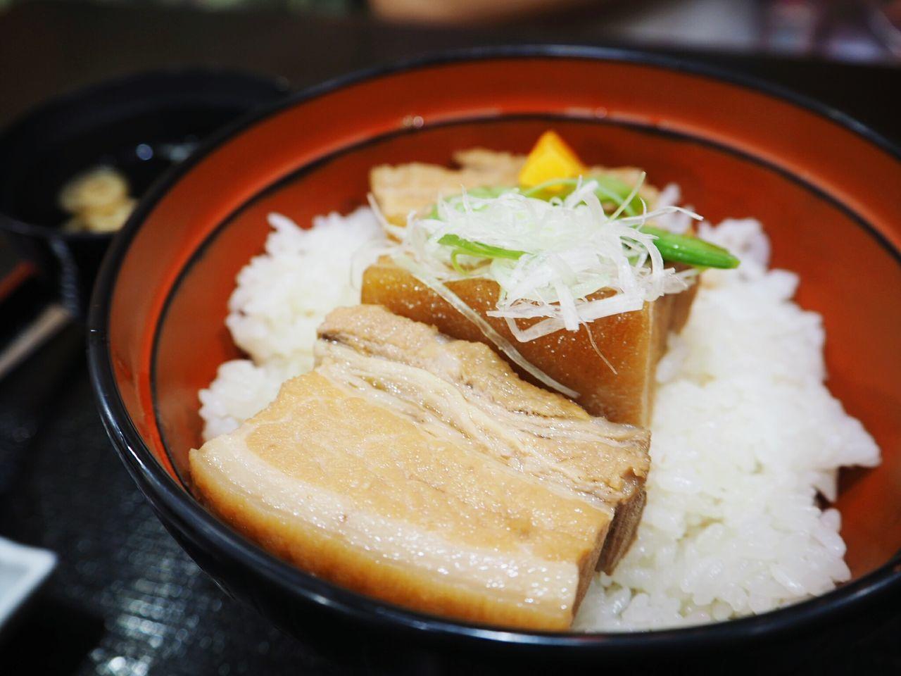 Okinawa Food. Must Eat! Food Bowl Close-up Asian Food No People Rafute Pork Pork Belly Rice Bowl Okinawan Foods Japan Photography Japan Japan Food Must Eat Olympus OM-D E-M10 Mark II