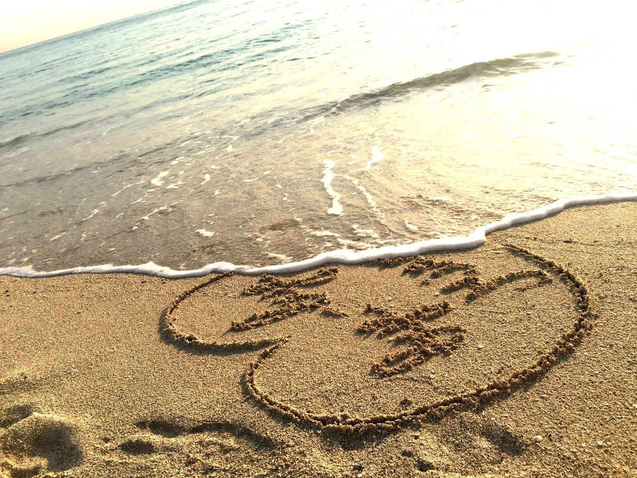 sand, beach, shore, heart shape, nature, text, day, no people, outdoors, sea, communication, water, close-up, beauty in nature