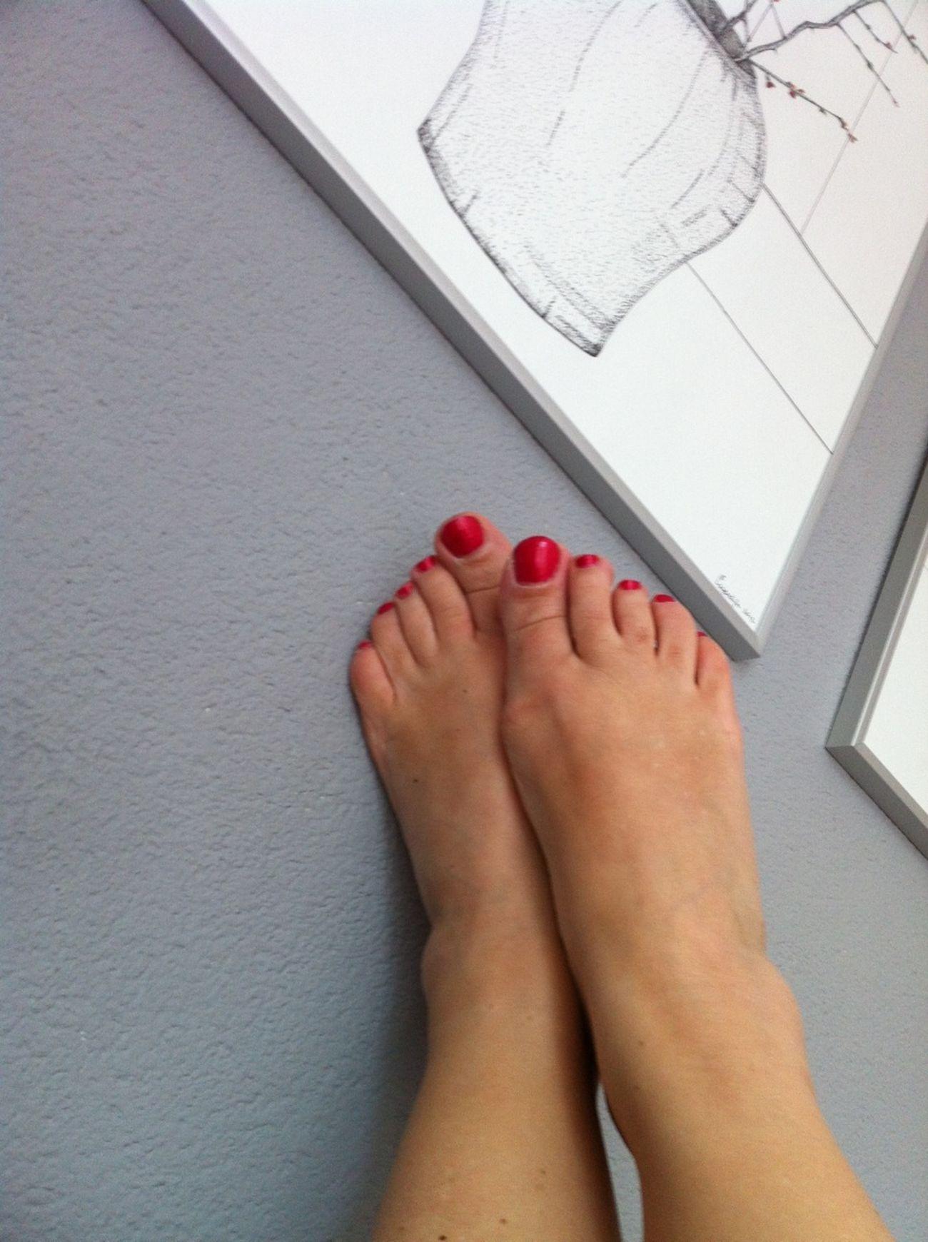 Taking Photos Red Barefoot