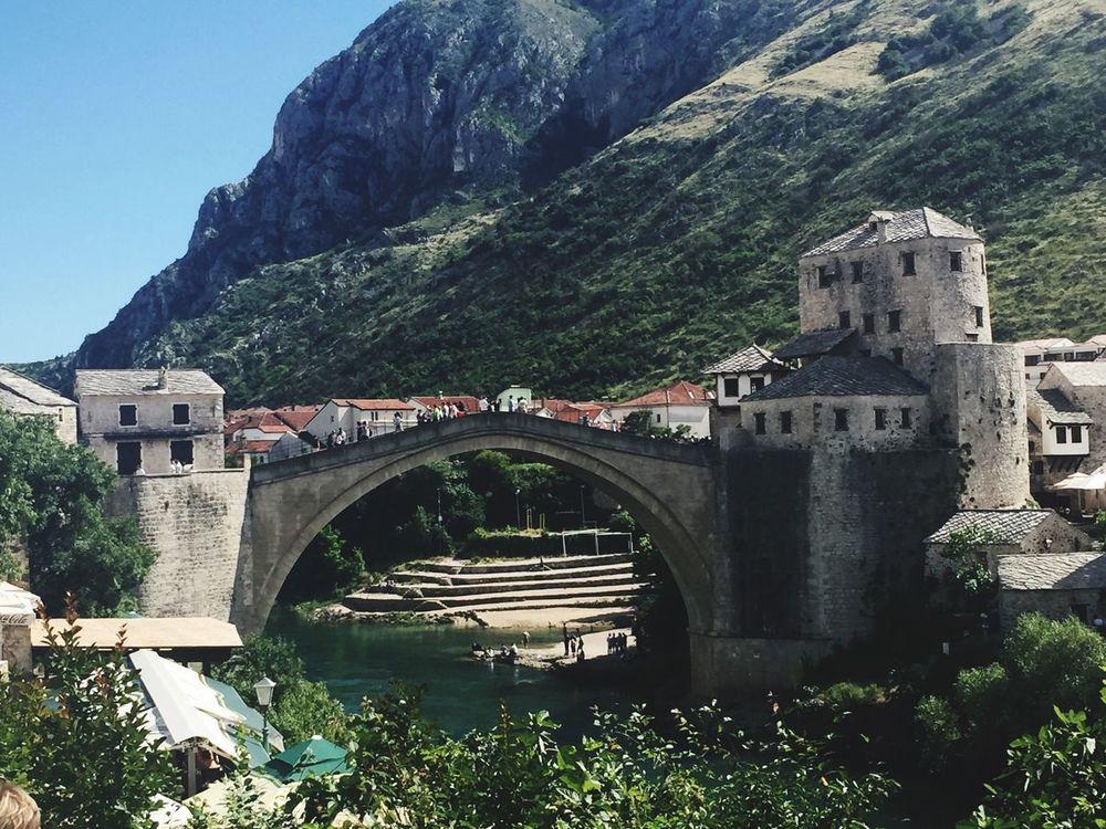 Mostar Mostarbridge Bridge Bosnia And Herzegovina Neretva Neretva River