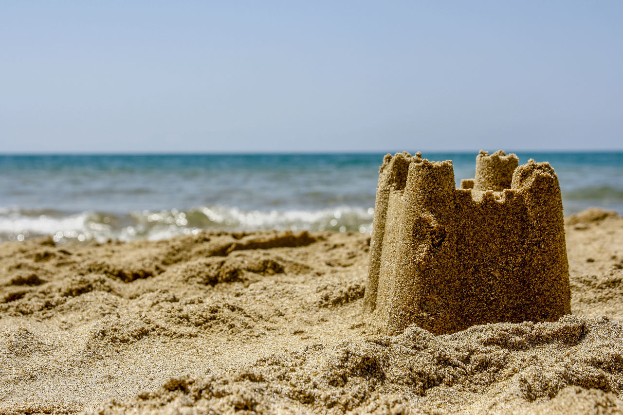#castelofsand #castle  #sea Beach Day Horizon Over Water Nature No People Outdoors Rock - Object Sand Sea Sky Vacations Wave