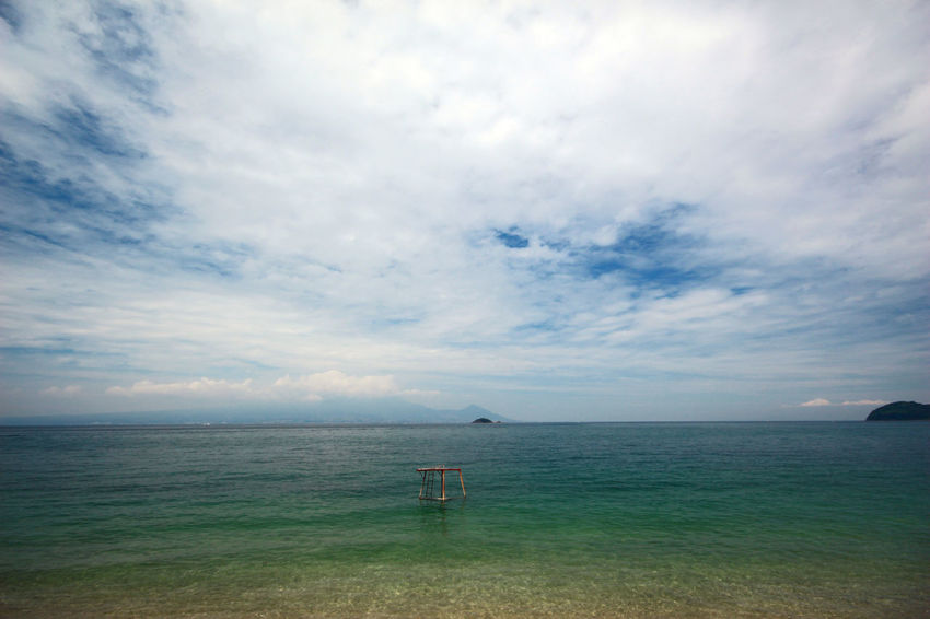 Beach Beauty In Nature Cloud - Sky Day Horizon Over Water Lifeguard Hut Nature No People Outdoors Scenics Sea Sky Tranquil Scene Tranquility Water 天草 熊本