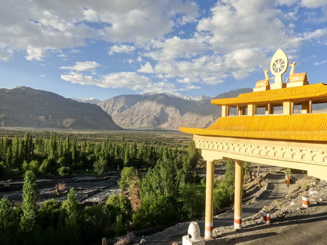 Leh Ladakh India Travel Architecture Travel Destinations Sunlight Tourism Sky Landscape Outdoors No People Mountain Day Travel Minimalism Snowcapped Mountain Travel Photography Landscapes Mountains And Sky