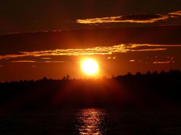 Sunset in The kejimkujik national parc Sunset Kejimkujik Canada Novascotia Kajaking