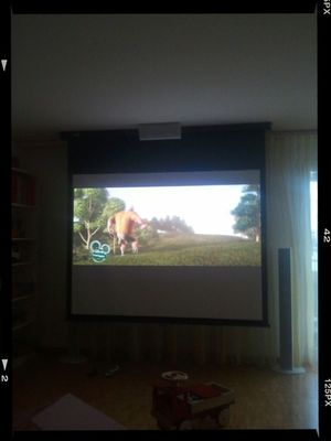 Watching a movie in Bülach by Matthias Cramer