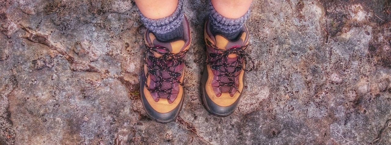 Hiking Shoes Feet Adventure Time Rambling Woodland Walk Having Fun Fresh Air Lover Excercise Time
