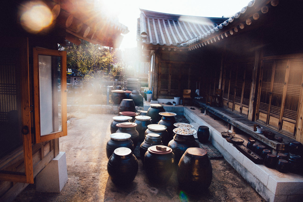 sunlight, built structure, architecture, day, building exterior, no people, barrel, outdoors