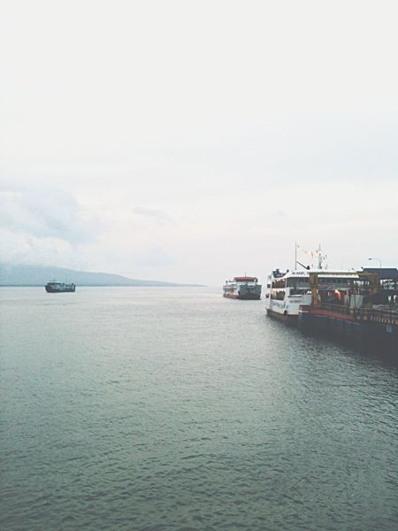 Horizon Over Water Harbour Ferry Views Transportation Nautical Vessel Sea Mode Of Transport Water Nature Tranquility Scenics No People Beauty In Nature Waterfront Outdoors Sky Day Tranquil Scene EyeEm Gallery EyeEmNewHere At Selat Bali