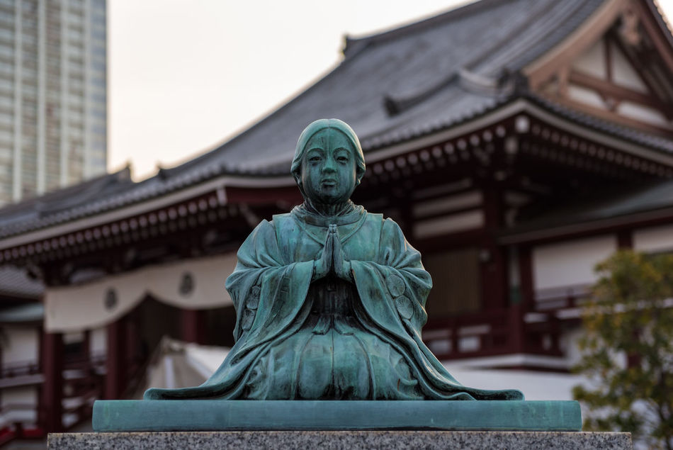 Zojo Ji Tokyo Architecture Building Exterior Built Structure City Close-up Day Human Representation Japan Japan Photography Japanese  Low Angle View No People Outdoors Sculpture Sky Statue Temple Tokyo Tokyo Tower Travel Destinations Zojo Ji Zojoji Zojoji Temple Zojojitemple
