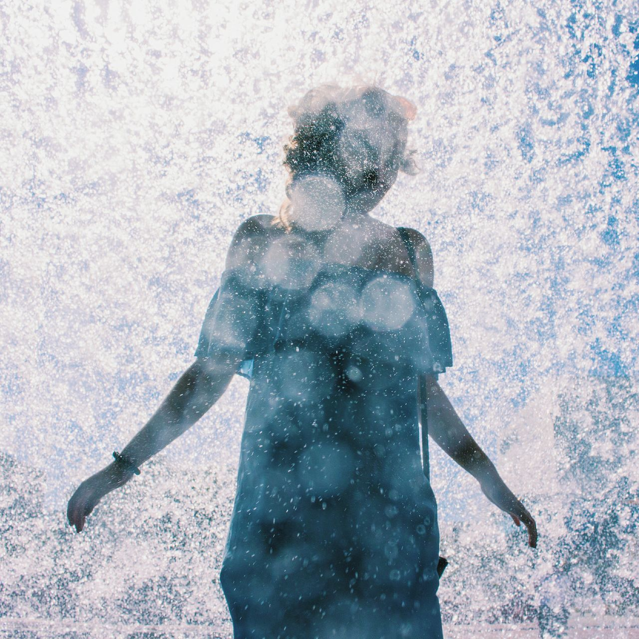 Dreams over water summer EyeEm Selects people outdoors women young adult The Week On Eyem portrait day Portugal young women waterdrops water - collection waterfall Water droplets water on lens effects with water magical moments magicalfeeling Breathing Space The Week on EyeEm