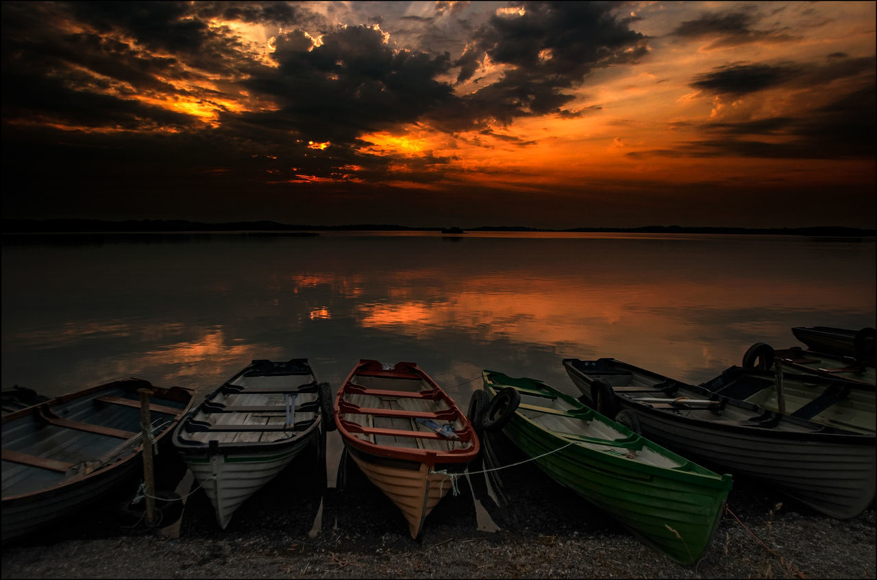 Boats Atmosphere Atmospheric Mood Boat Cloud Cloud - Sky Cloudscape Cloudy Distant Dramatic Sky Dusk Ireland Lough Ennel Moody Sky Orange Color Outdoors Silhouette Sky Storm Cloud Sunset Tranquility Vacation Water