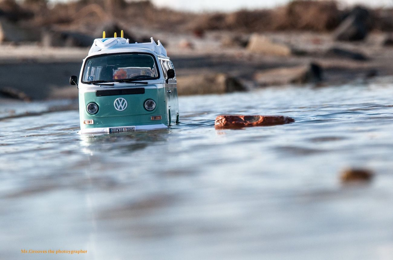 Vwblubs Beach Toyphotography Volkswagenbus Toy Car Surf's Up Diecastphotography Forced Perspective