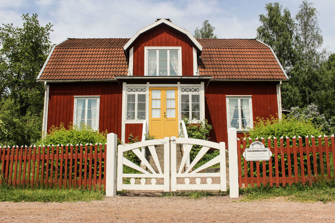Great Views House Red Schweden Vintage Vintage House Yellow