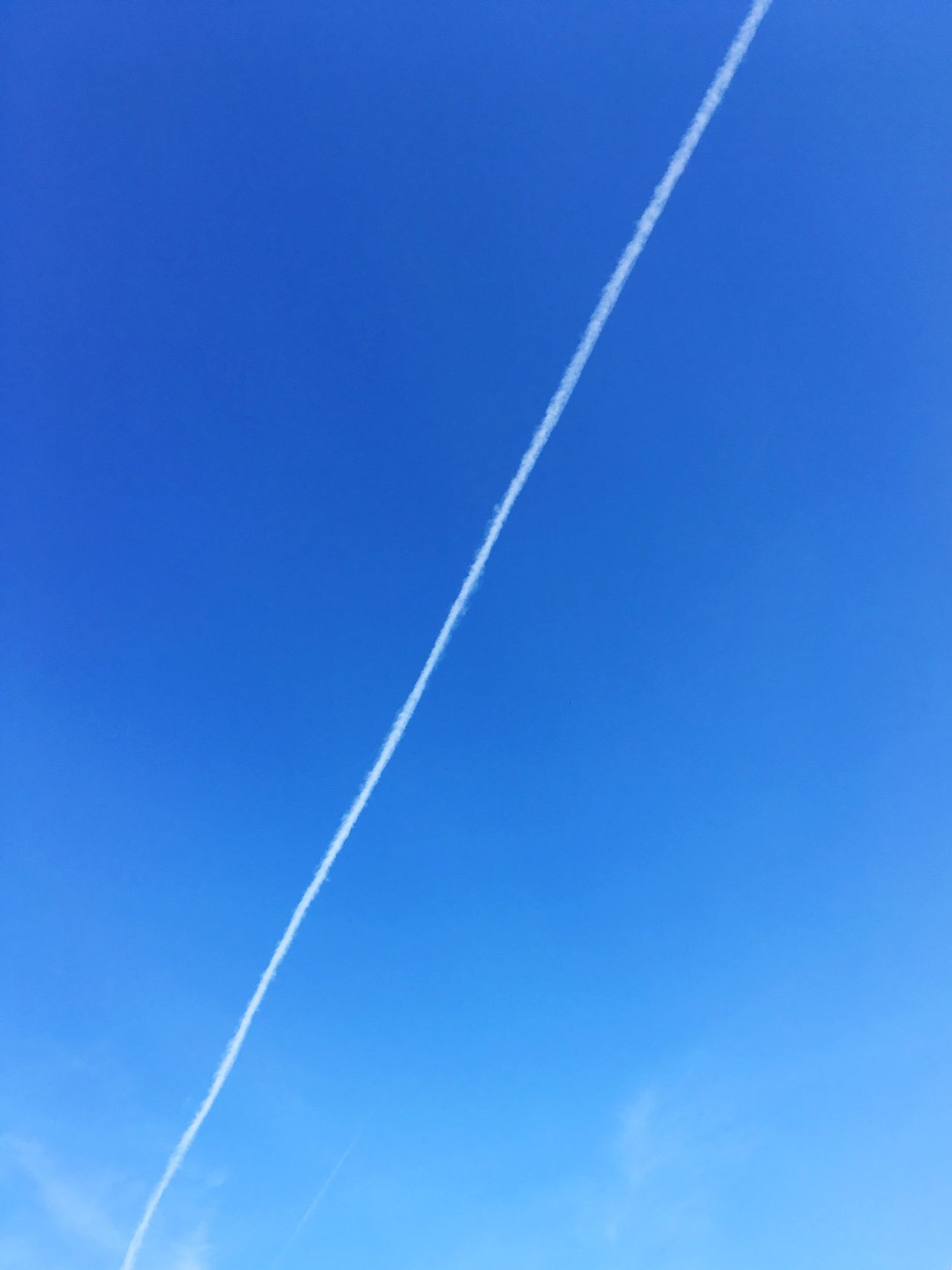Trail in the sky Trail Contrail Contrails Trails Contrail Vapor Trail Clear Sky Sky Sky_collection White Outdoors Long Trace Traces Plane Trail Film Blue Scenics Scenic Lines Lines And Shapes LINE Shape Shapes Shapes And Forms