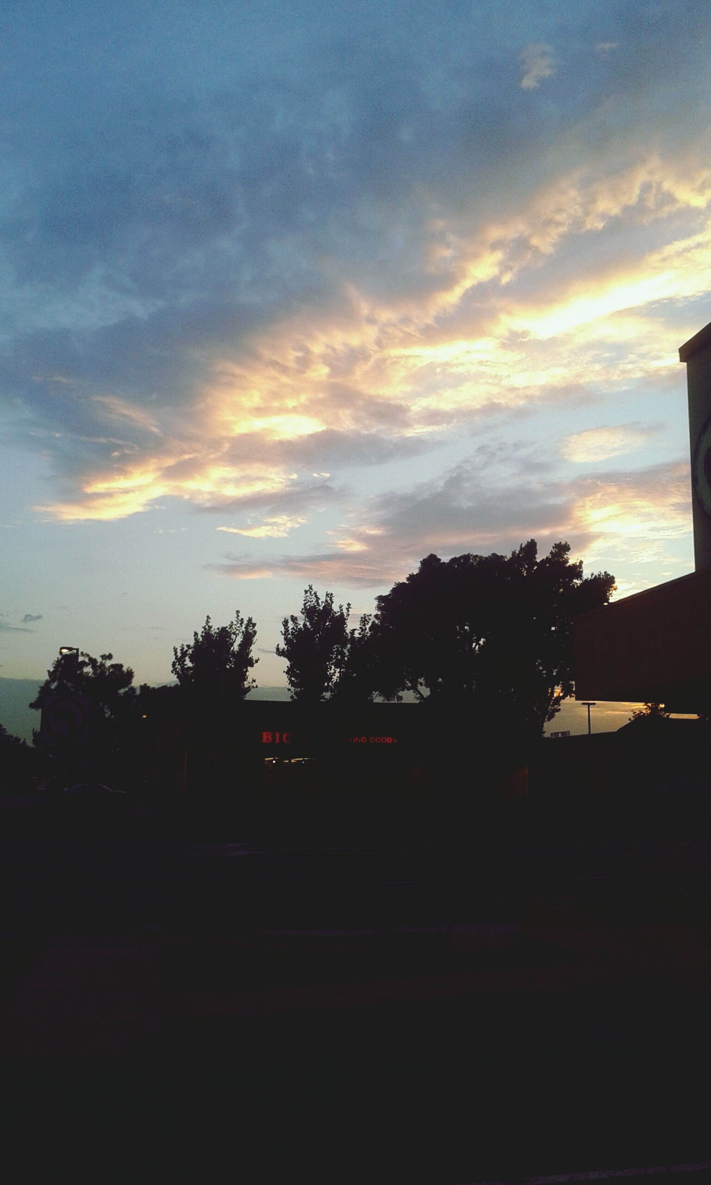 silhouette, sunset, sky, tree, cloud - sky, built structure, cloud, architecture, dusk, building exterior, cloudy, beauty in nature, nature, tranquility, scenics, tranquil scene, dark, orange color, outdoors, no people