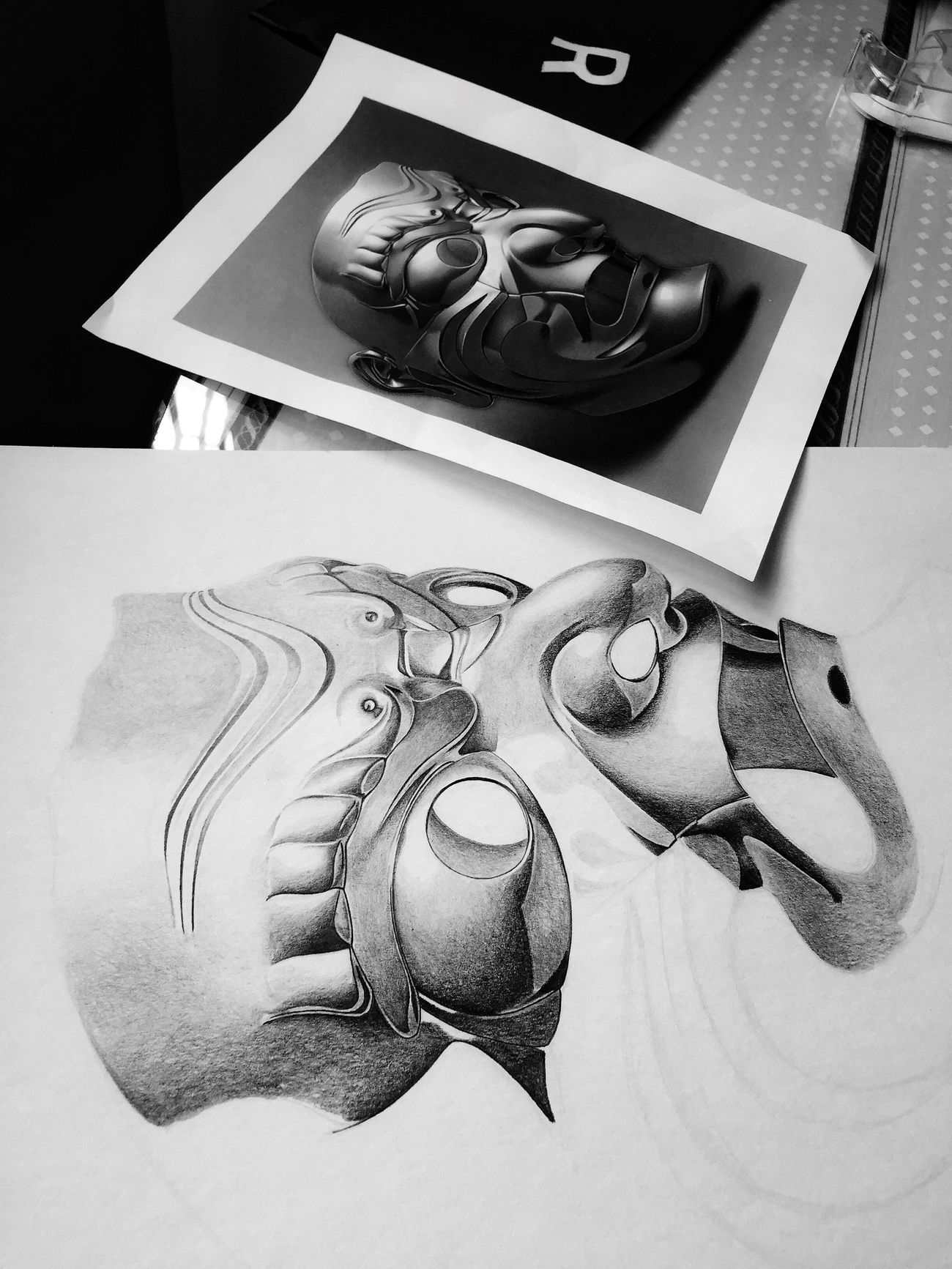 My Drawing Black & White Black & Gray Art, Drawing, Creativity Inspiracion Drawingtime Grayscale Dibujo A Lapiz La Mente Detras Del Lapiz