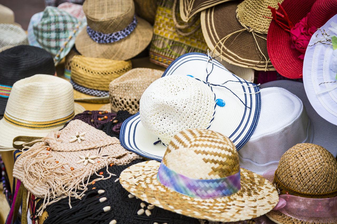 Basket Choice Diversity Hats Headwear No People Variation VariousColors