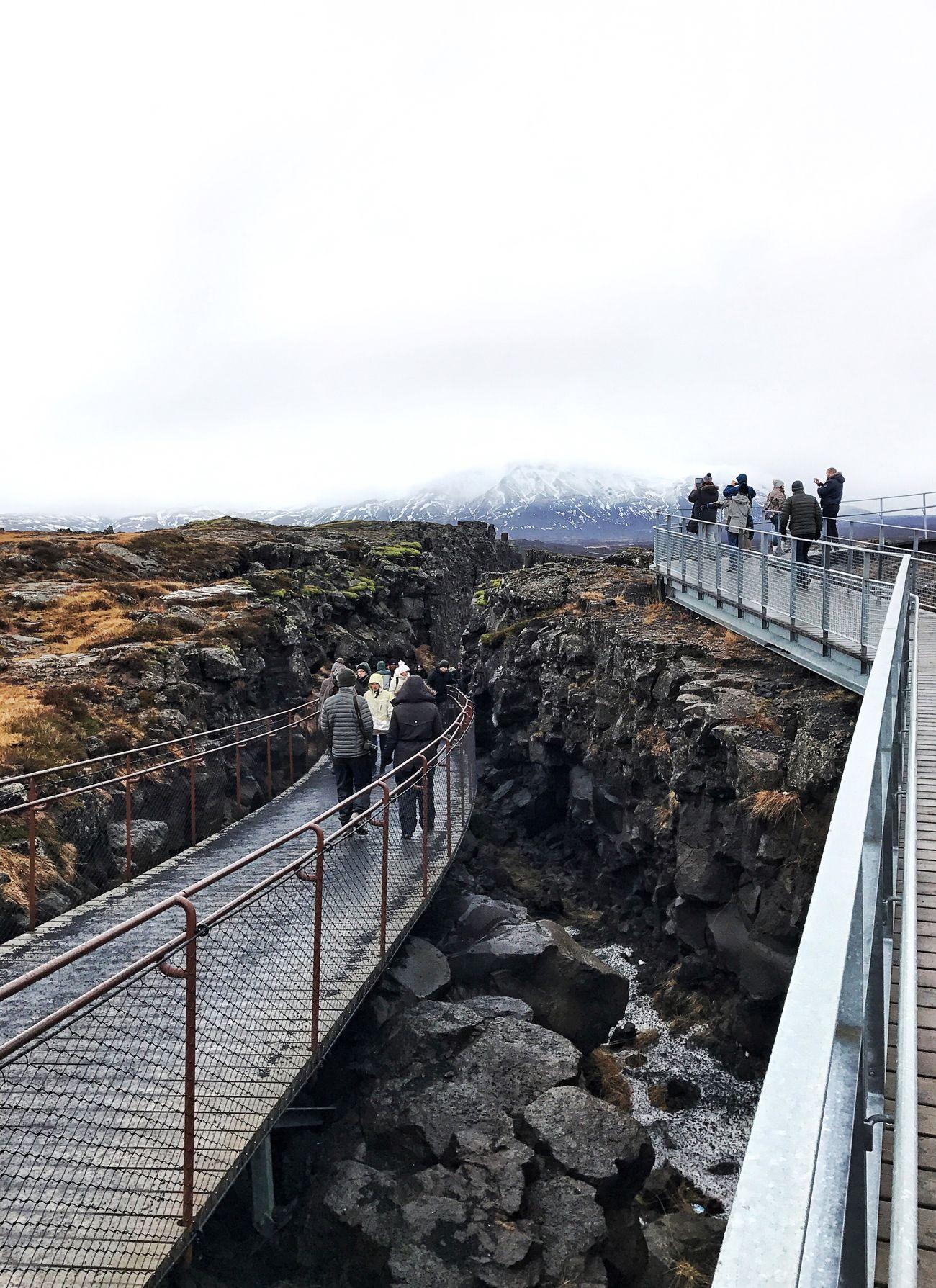 Golden Circle Iceland Mountain Thingvellir National Park Tectonicplate Fissure In Nature Tectonic Ridge