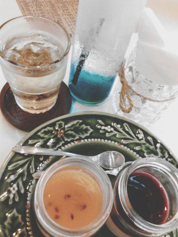 Drinking Soda  Blue Sky Panna Cotta