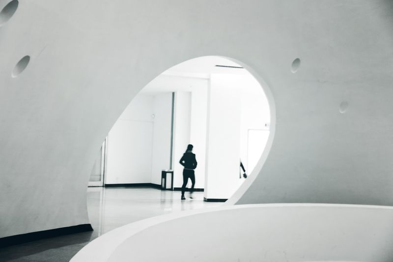 Black And White Space Form Art Museum