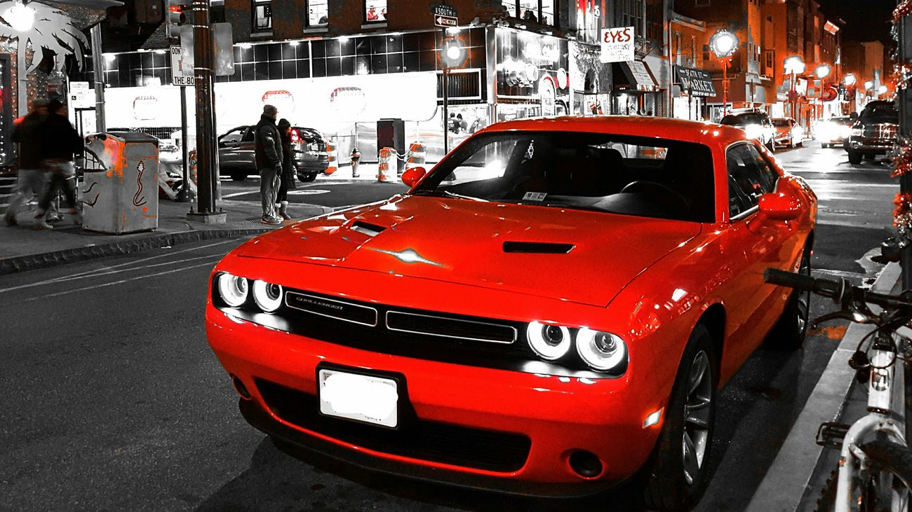 What's Blackandwhite and Red all over? EyeEm Masterclass Showcase: December Cool Cars Challenger Streetphotography Streetphoto_bw Shootermag Eye4photography  Popular Photos Popular Dukesofhazzard at Philadelphia, Philadelphia County, Pennsylvania, United States