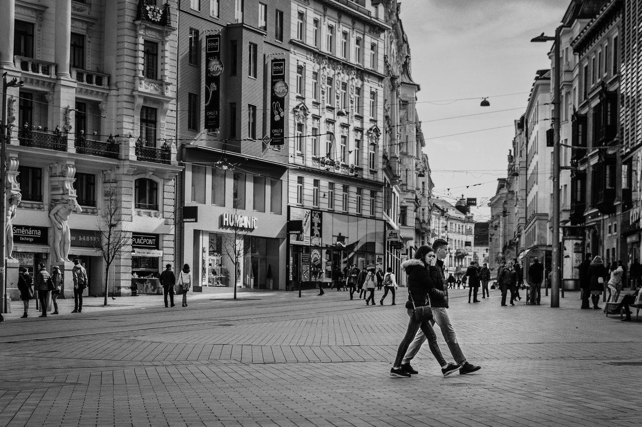 Black & White On The Move Street Taking Photos City Life City Street D5200 Streetphotography Brno Czech Republic