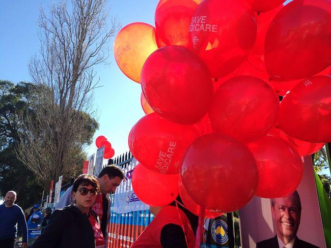 AusVotes Election Day Auspol   Red Balloons Everybodystreet