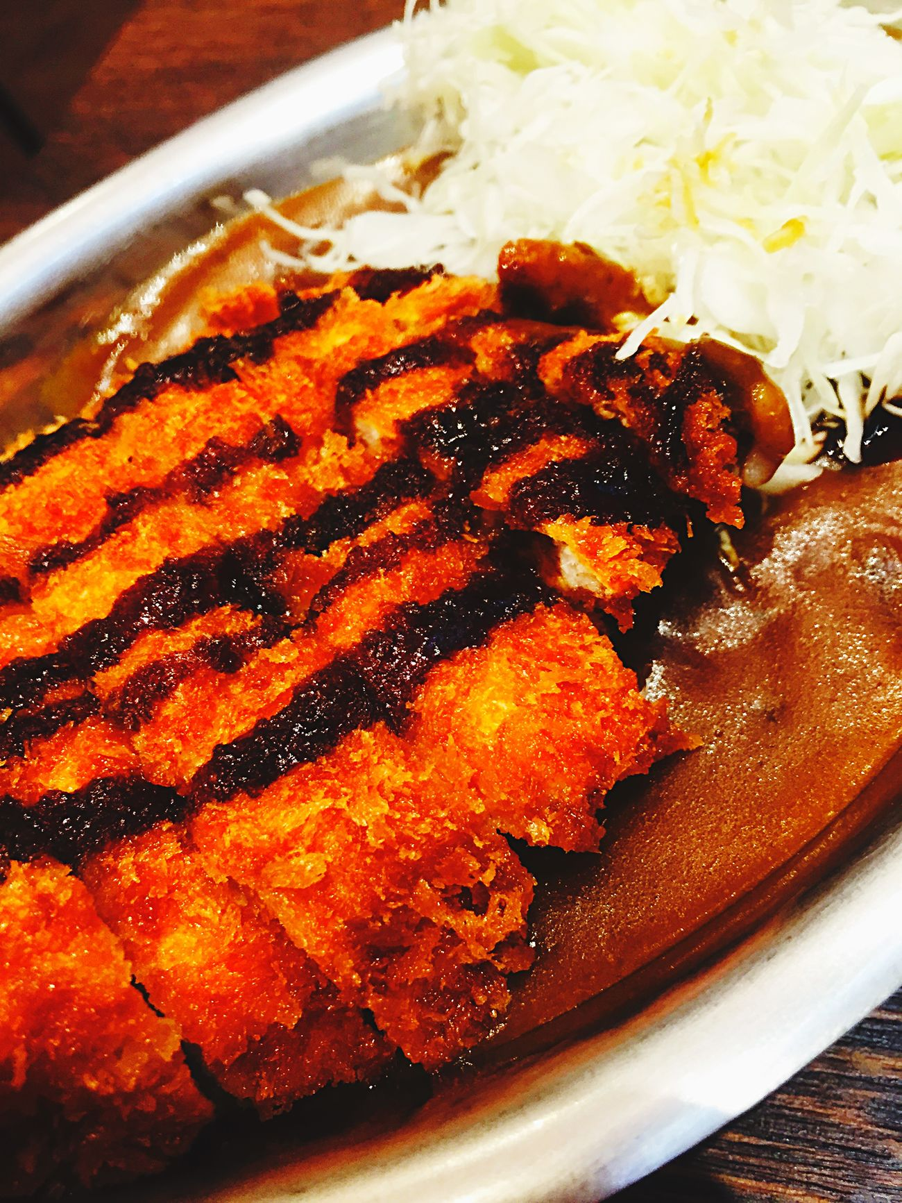 IPhoneography Curry on Chicken Katsu Delicious 金沢カレー Curry's Champion Foodporn in Kanazawa-shi Japan