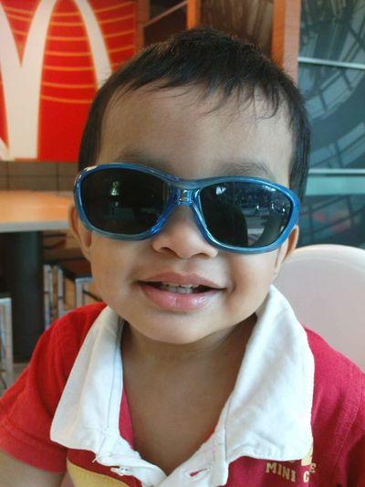 My liltle cutie pie. Portrait Looking At Camera Sunglasses Smiling Close-up