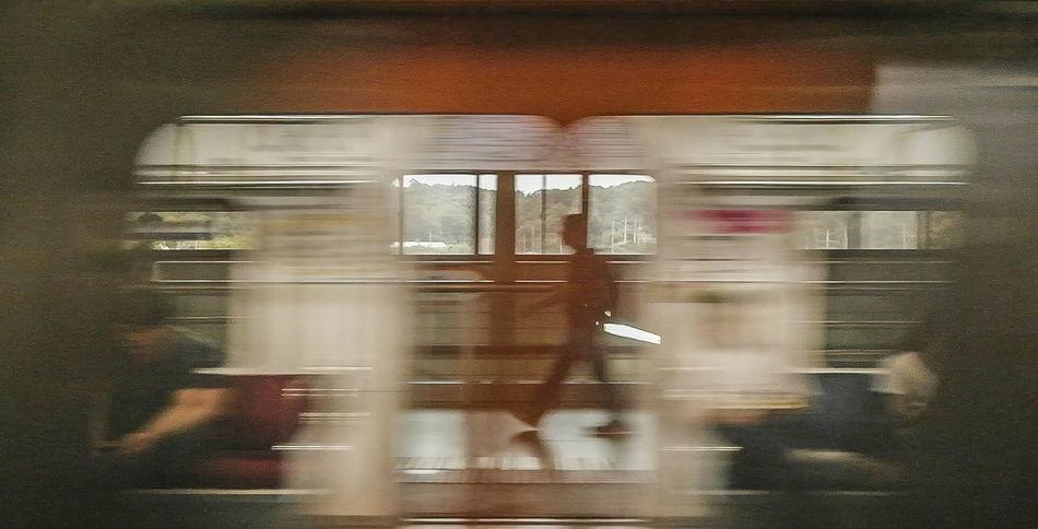 2015  Blur Blurred Motion Motion Public Transportation Speed Spotlight Subway Train Transportation